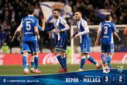 Депортиво — Малага — 3:2. Видеообзор матча