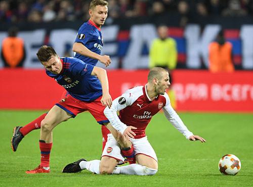 Арсенал вырвал ничью у ЦСКА и вышел в полуфинал Лиги Европы